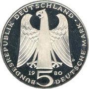 5 Deutsche Mark (Walther von der Vogelweide) -  obverse