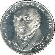 5 Deutsche Mark (Freiherr vom Stein) -  reverse
