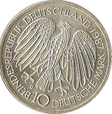 10 Deutsche Mark Treaty Of Rome Germany Federal Republic Numista