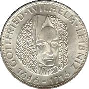 5 Deutsche Mark (Wilhelm Leibniz) – reverse