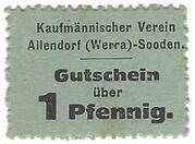 1 Pfennig (Kaufmännischer Verein Allendorf-Sooden) – obverse