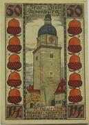 50 Pfennig (Skat Series - Nikolaiturm) – reverse