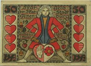 50 Pfennig (Skat Series - Players) – obverse