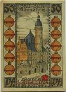 50 Pfennig (Skat Series - Rathaus) – reverse