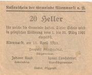 20 Heller (Altenmarkt a. d. Ysper) -  reverse