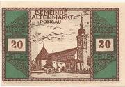 20 Heller (Altenmarkt im Pongau) – obverse