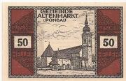 50 Heller (Altenmarkt im Pongau) – obverse