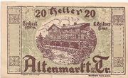 20 Heller (Altenmarkt a. d. Triesting) -  obverse