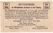 20 Heller (Altenmarkt a. d. Triesting) -  reverse