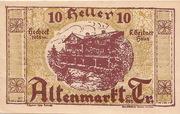 10 Heller (Altenmarkt a. d. Triesting) – obverse