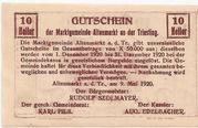 10 Heller (Altenmarkt a. d. Triesting) – reverse
