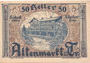 50 Heller (Altenmarkt a. d. Triesting) – obverse