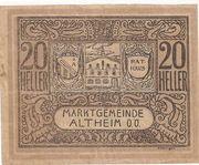 20 Heller (Altheim) – obverse
