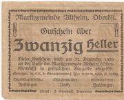 20 Heller (Altheim) – reverse