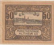 50 Heller (Altheim) – obverse