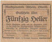 50 Heller (Altheim) – reverse
