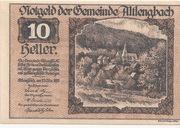 10 Heller (Altlengbach) – obverse