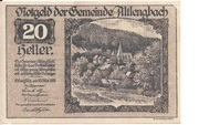 20 Heller (Altlengbach) – obverse