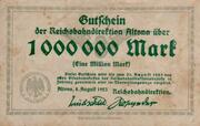 1,000,000 Mark (Reichsbahndirektion) – obverse