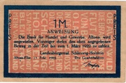 1 Mark (Landesbürgerrat Schleswig-Holstein) – obverse