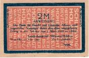 2 Mark (Landesbürgerrat Schleswig-Holstein) – obverse
