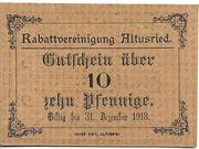 10 Pfennig (Rabattvereinigung) – obverse