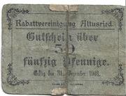 50 Pfennig (Rabattvereinigung) – obverse