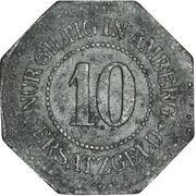 10 Pfennig - Amberg – reverse