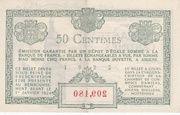 50 Centimes - Chambres de Commerce d' Amiens – reverse