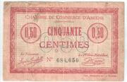 50 Centimes - Chambre de Commerce D'Amiens – obverse