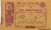 50 centimes - Chambre de Commerce d'Amiens [80] – obverse