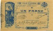 1 franc - Chambre de Commerce d'Amiens [80] – obverse