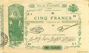 5 francs - Chambre de Commerce d'Amiens [80] -  obverse