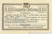 50 Centimes - Chambre de Commerce D'Amiens – reverse