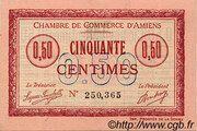 50 centimes - Chambre de Commerce D'Amiens [80] <Timbre sec> – obverse