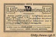 50 centimes - Chambre de Commerce D'Amiens [80] <Timbre sec> – reverse