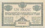 1 franc - Chambre de Commerce D'Amiens [80] – reverse