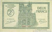 2 francs - Chambre de Commerce D'Amiens [80] – obverse