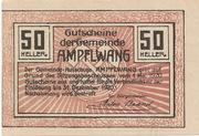 50 Heller (Ampflwang) – reverse