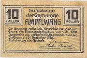 10 Heller (Ampflwang) – reverse