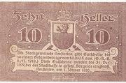 10 Heller (Amstetten) rough Paper – reverse