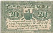 20 Heller (Amstetten) – obverse