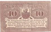 10 Heller (Amstetten) smooth Paper – obverse