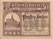 50 Heller (Amstetten) – obverse