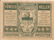 50 Heller (Amstetten) – reverse