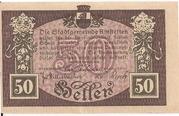 50 Heller (Amstetten) -  reverse