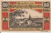 80 Heller (Amstetten) – obverse