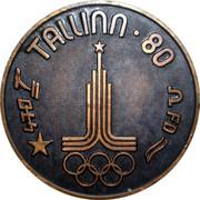 Medal - Olympic Games 1980 Moscow (Tallinn 80 - 470; Estonia) -  obverse