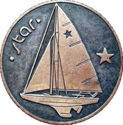 Medal - Olympic Games 1980 Moscow (Tallinn 80 - Star; Estonia) -  obverse