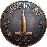 Medal - Olympic Games 1980 Moscow (Tallinn 80 - Star; Estonia) -  reverse